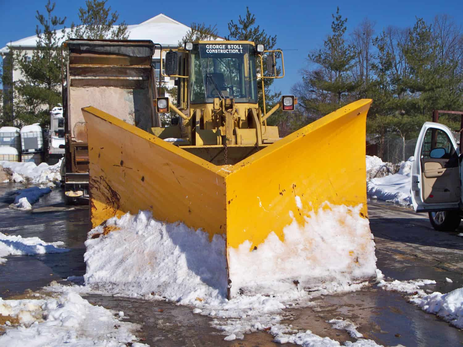 Snow Plow from CSB Snow Contractor - NY Snow Removal