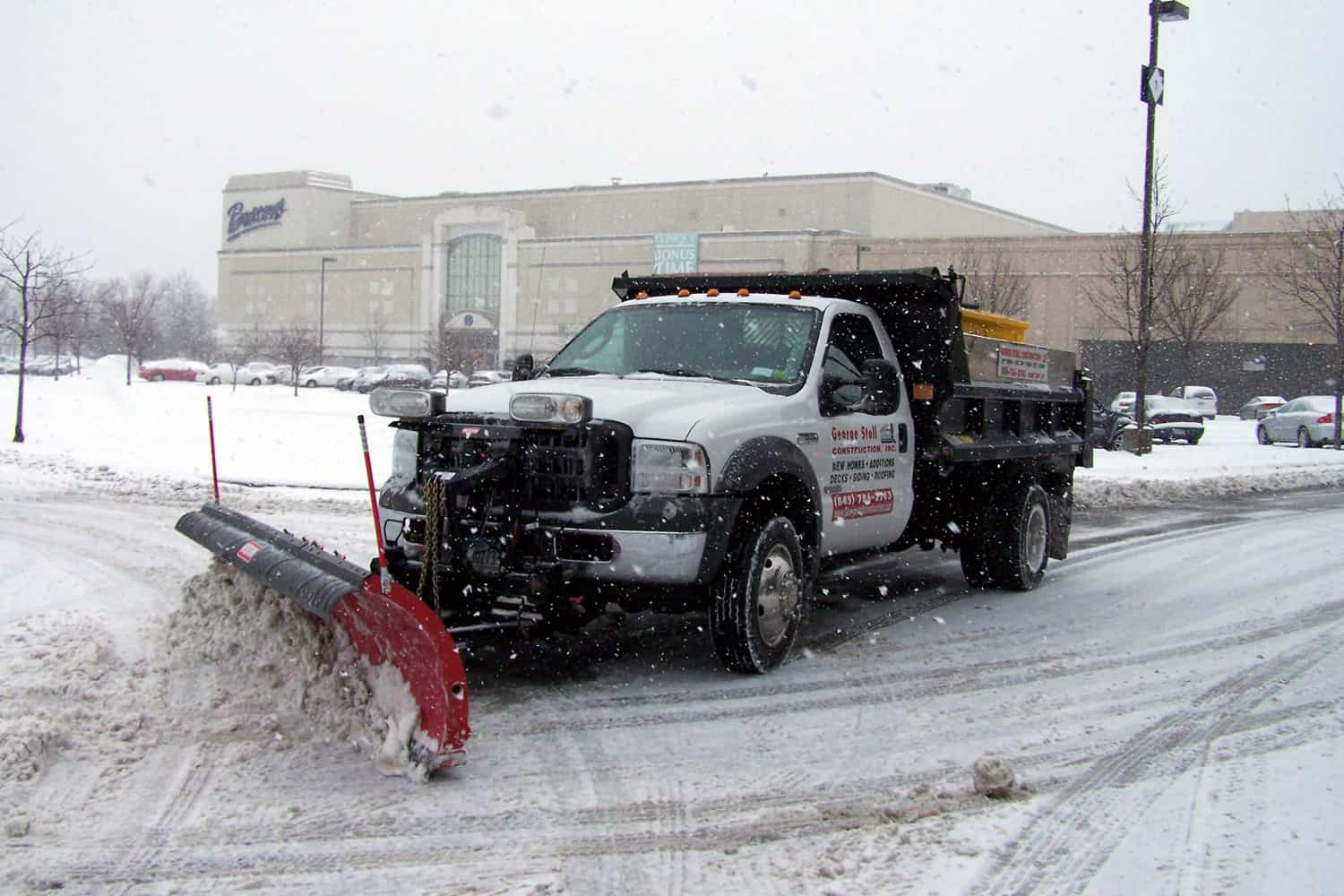 Mason Dump Truck with Plow Tandem at CSB Contractors