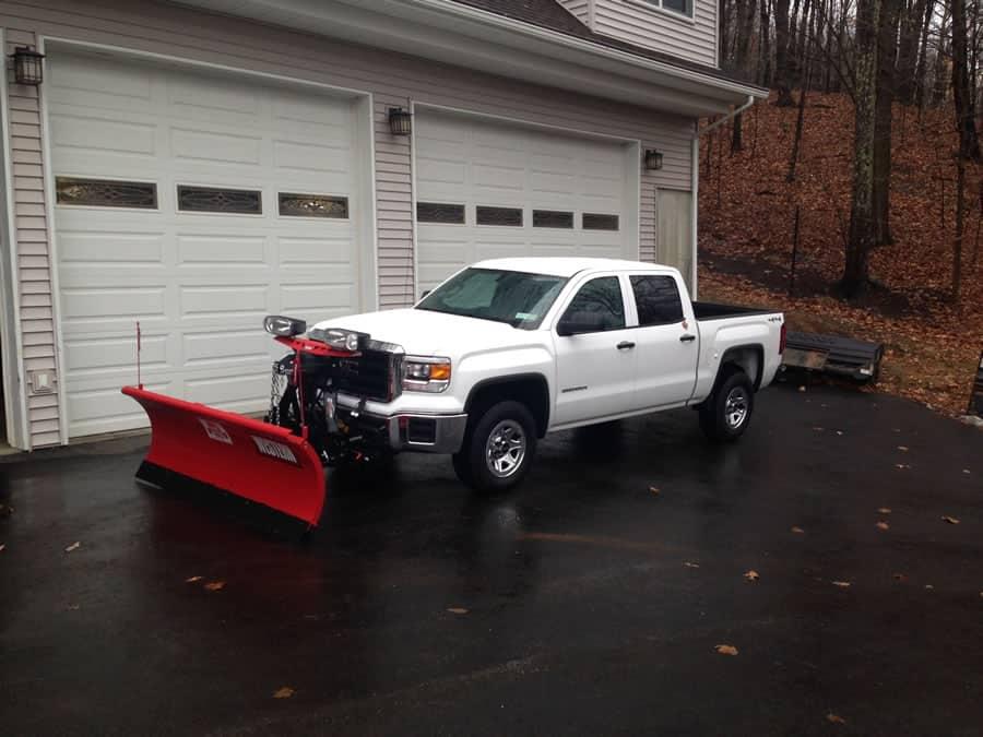 4x4 snow plow truck at CSB Contractors, Inc.