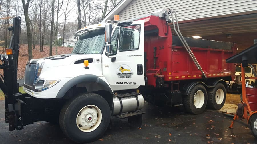 CSB Contractors, Inc. heavy duty snow plow truck with dump