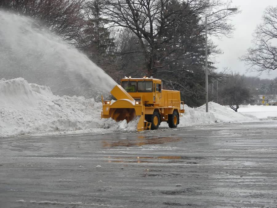 airport grade snow blower in distance from CSB Contractors, Inc.