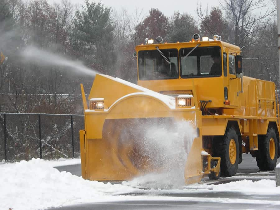 airport snow blower in action from CSB Contractors, Inc.