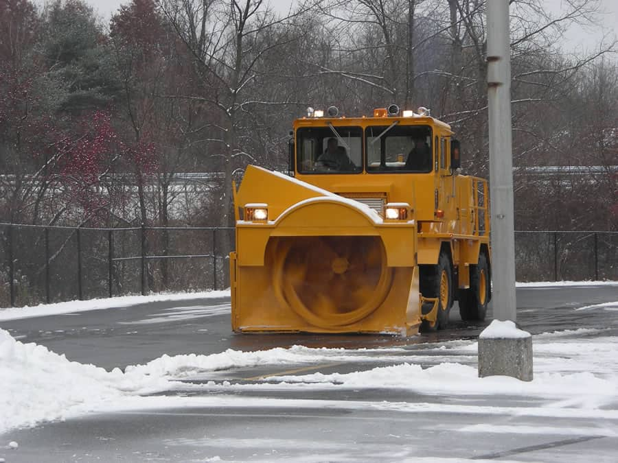 airport snow blower in parking lot from CSB Contractors, Inc.