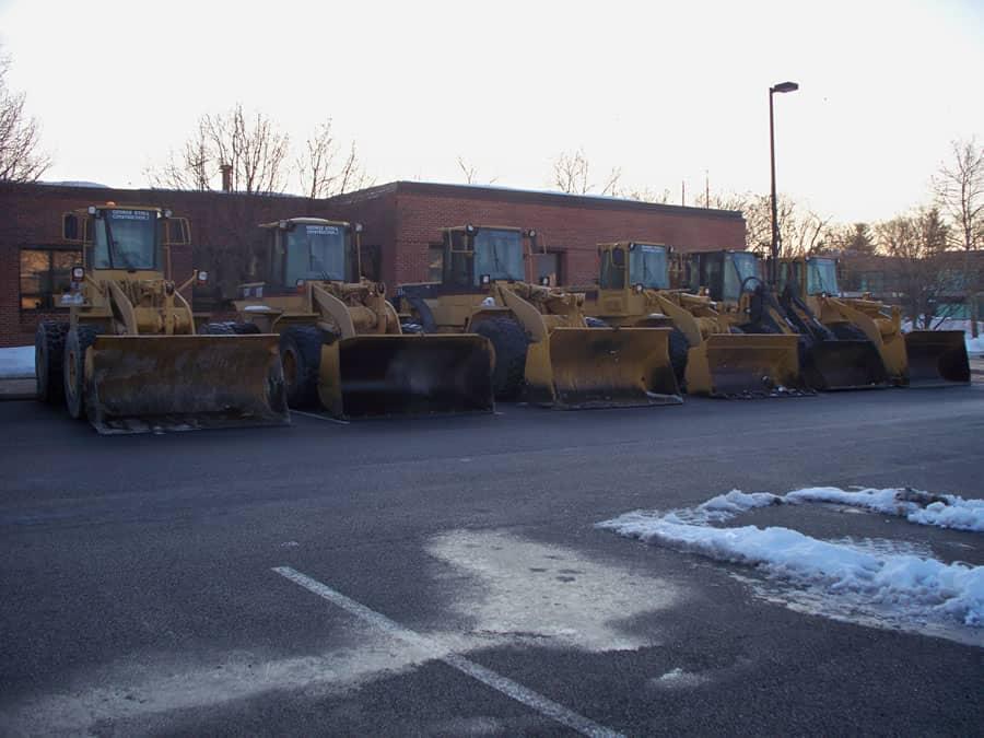 fleet of loaders from CSB Contractors, Inc.