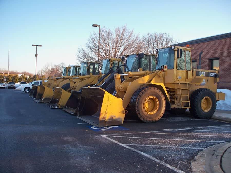 fleet of wheel loaders from CSB Contractors, Inc.