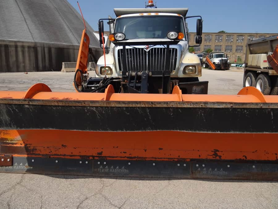 heavy duty snow plow up close from CSB Contractors, Inc.
