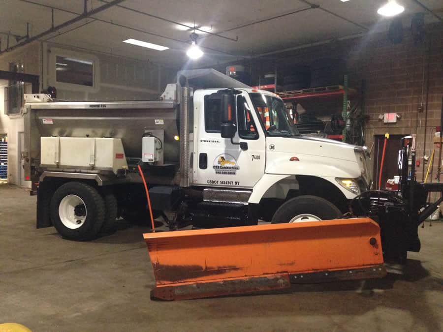 heavy duty snow plow used by CSB Contractors, Inc.