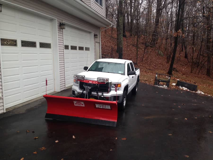 new 4x4 snow plow used by CSB Contractors, Inc.