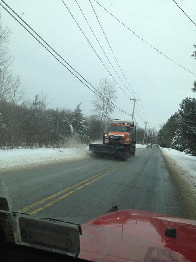 on the road snowplowing with CSB Contractors, Inc.