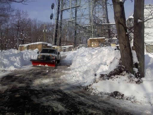 rural snow plow truck in action from CSB Contractors, Inc.