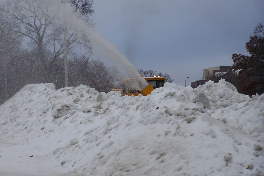 snow buried airport grade snow blower from CSB Contractors, Inc.