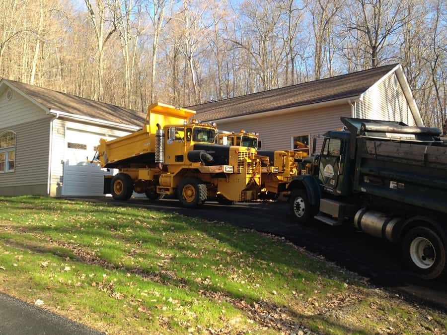 special snow removal trucks at CSB Contractors, Inc.