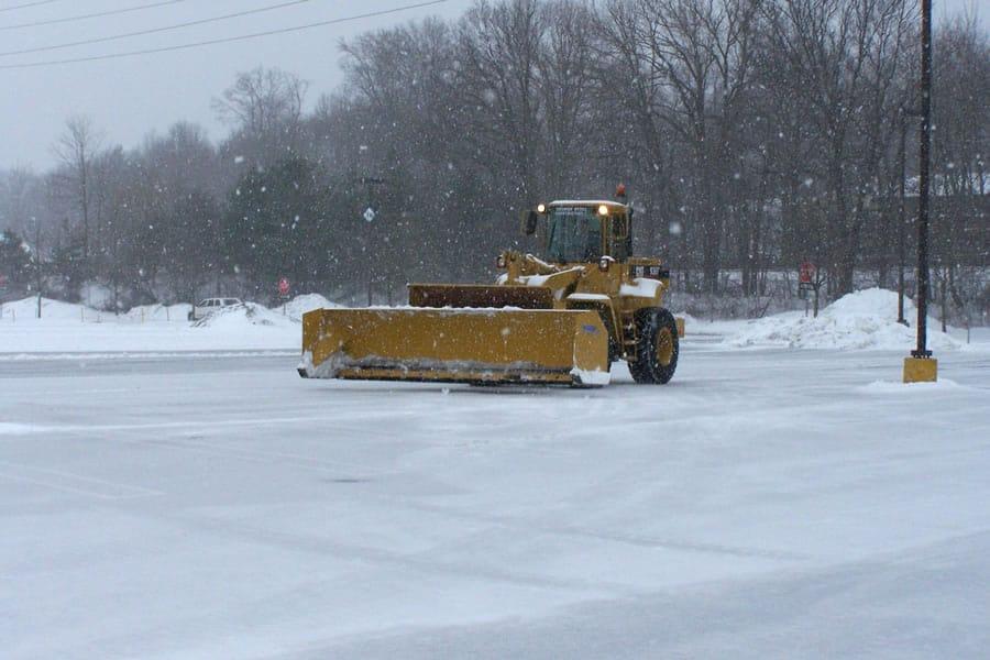 wheel loader snow pusher - CSB Contractors, Inc.